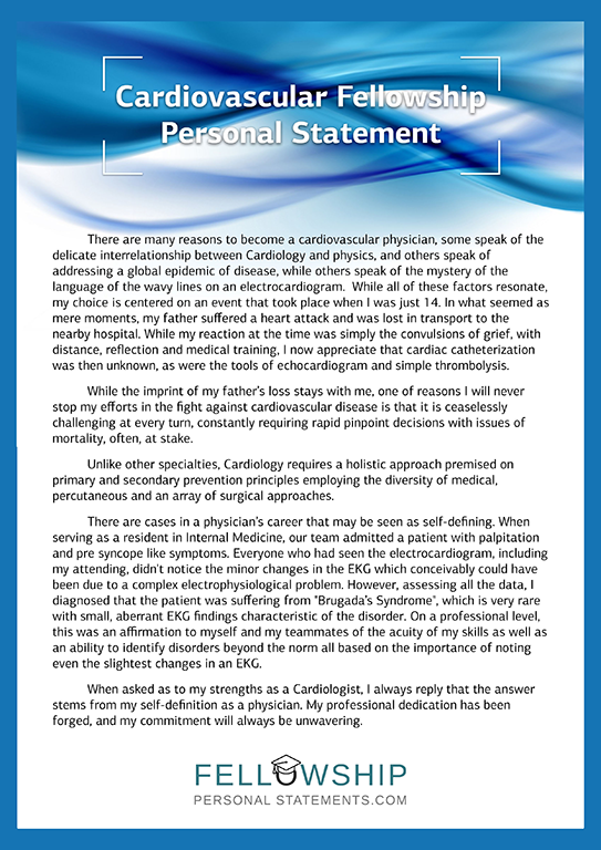 Personal statement fellowship