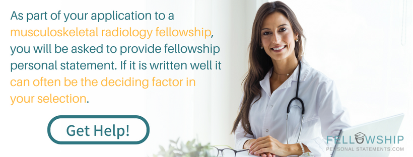 musculoskeletal radiology fellowship advice