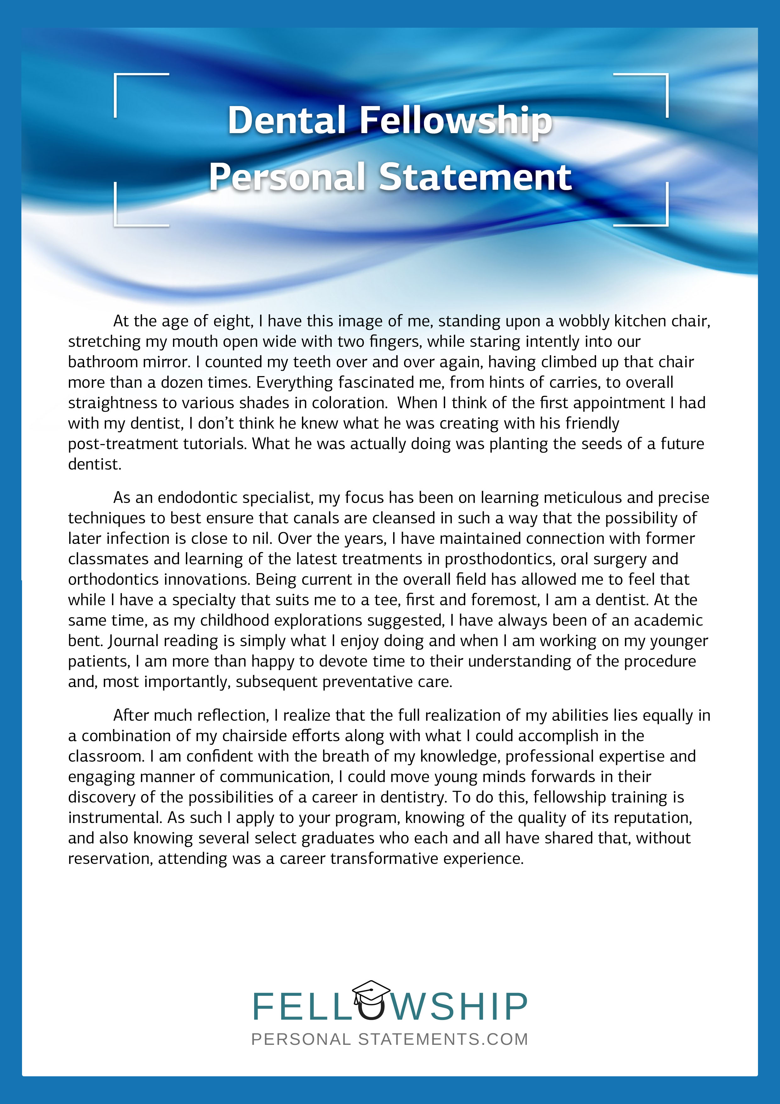 Buy a personal statement
