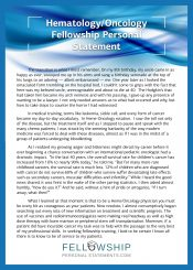 Best Fellowship Personal Statement Sample