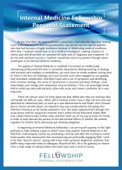 internal medicine fellowship personal statement
