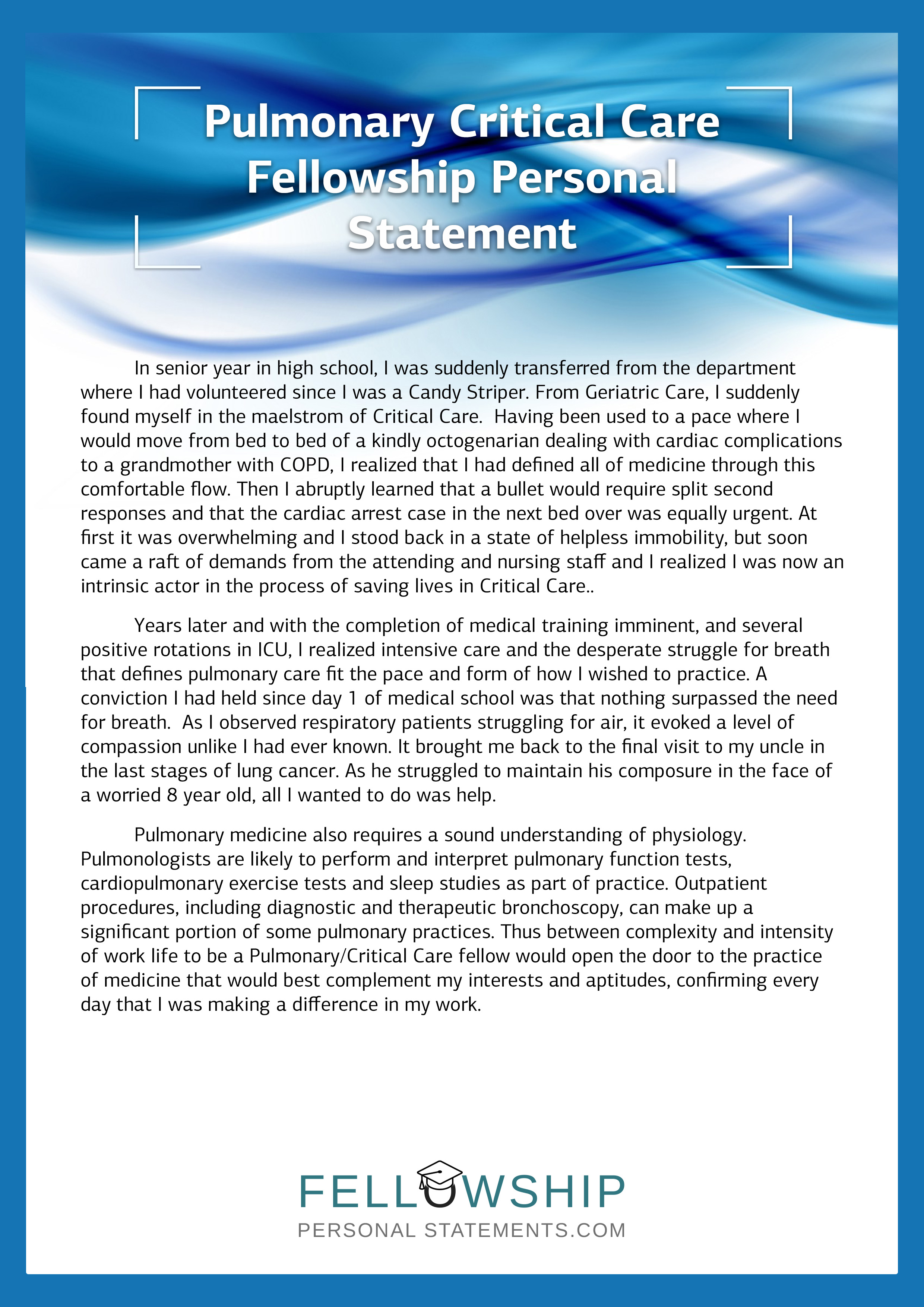 best personal statement for fellowship How to achieve the very best interventional cardiology fellowship personal statement the following are some simple tips that you need to consider before you start to write your fellowship personal.