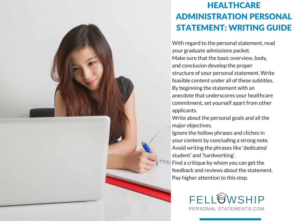 healthcare administration personal statement steps