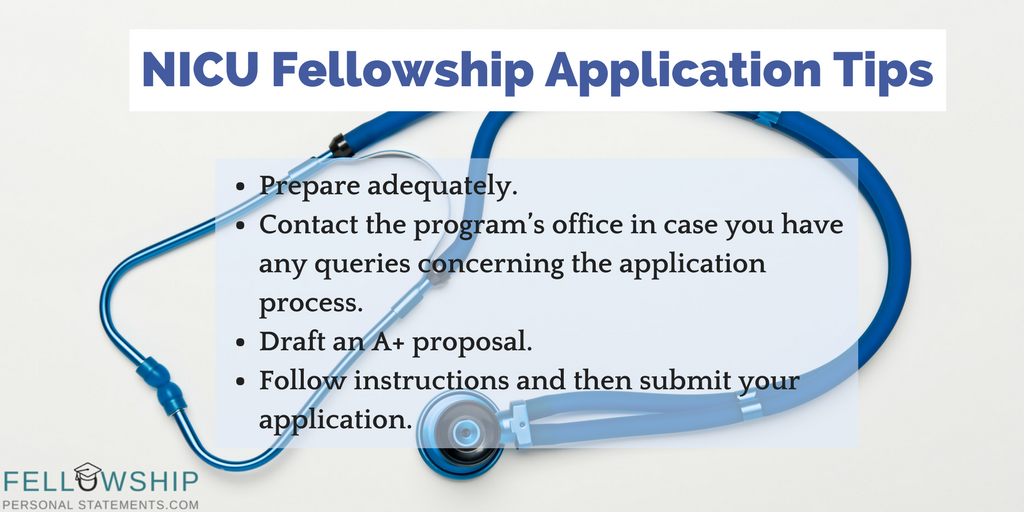 nicu fellowship application tips