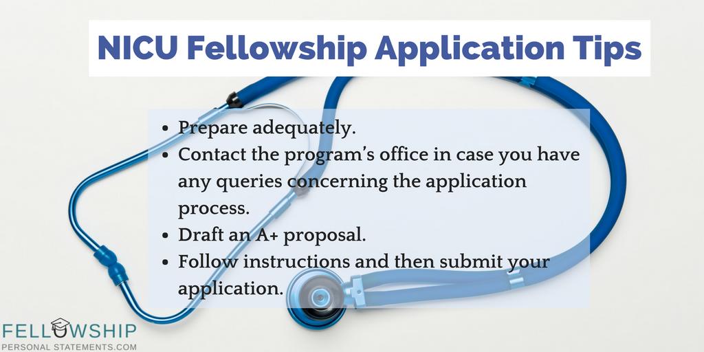 nicu fellowship application tips