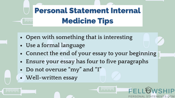 personal statement internal medicine tips