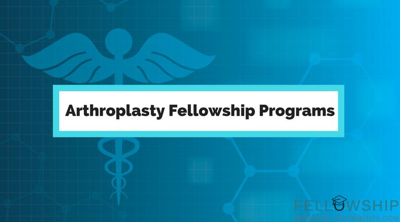 arthroplasty fellowship programs