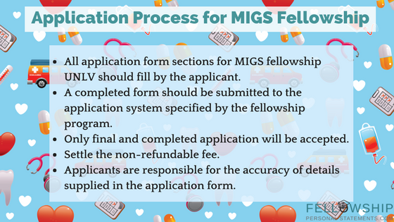 application process for migs fellowship