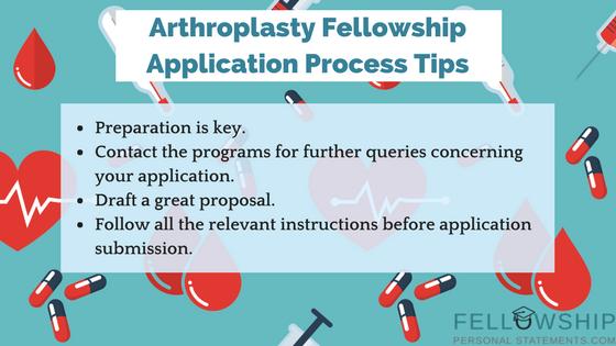 arthroplasty fellowship application process tips