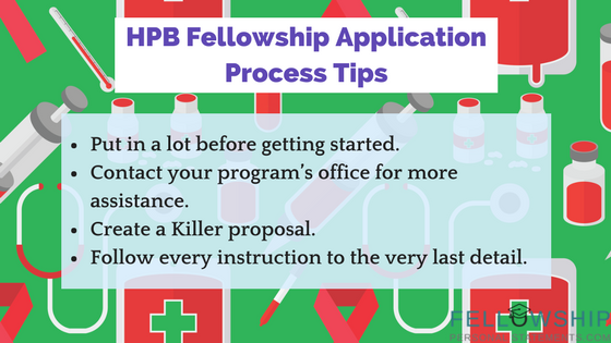 hpb fellowship application process tips
