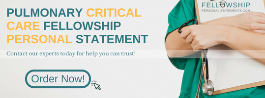 pulmonary critical care fellowship personal statement help