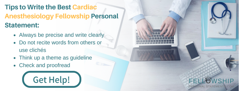 cardiac anesthesiology fellowship expert tips