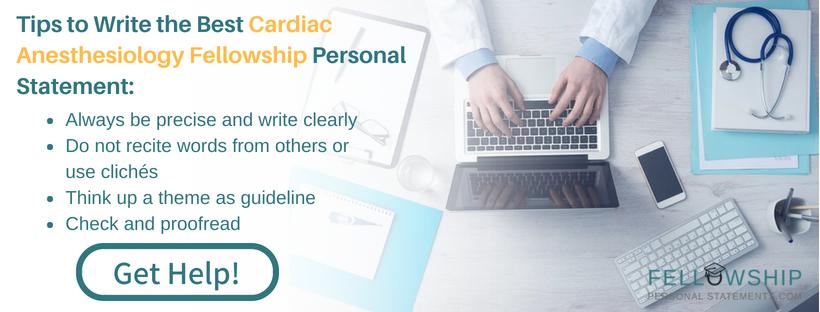 cardiac anesthesiology fellowship expert tips
