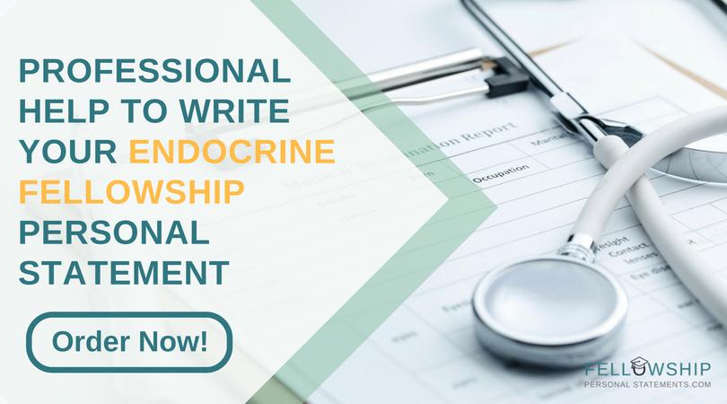 endocrinology fellowship personal statement writing