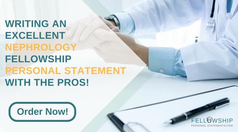 nephrology fellowship personal statement experts
